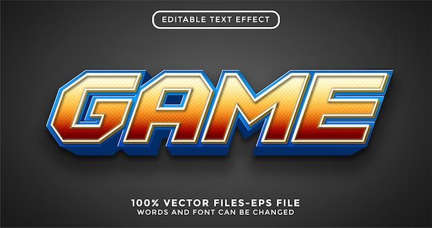 Tekst gry 3d. edytowalne wektory premium z efektem tekstowym