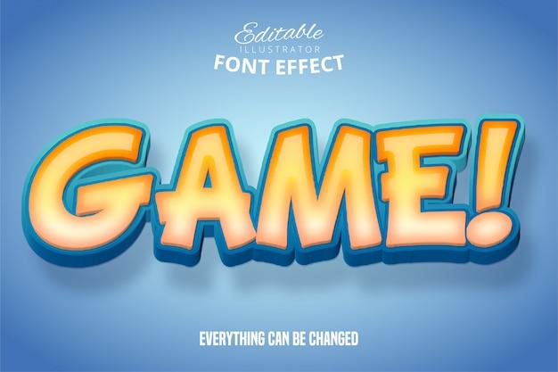 Tekst gry, efekt czcionki edytowalnej 3d