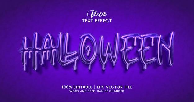 Tekst halloween, ciemny edytowalny styl efektu tekstu