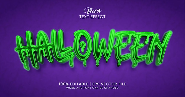 Tekst halloween, świecący styl edytowalnego efektu tekstowego