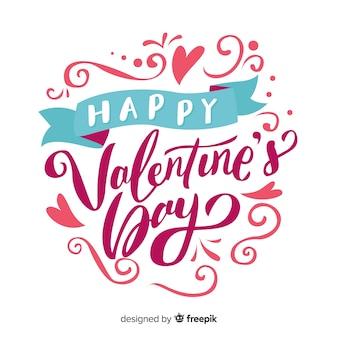 Tekst i ozdoby tło valentine