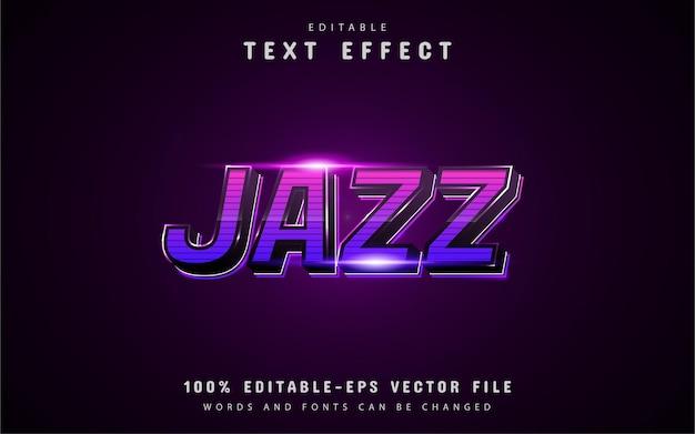 Tekst jazzowy - fioletowy efekt tekstowy gradientu