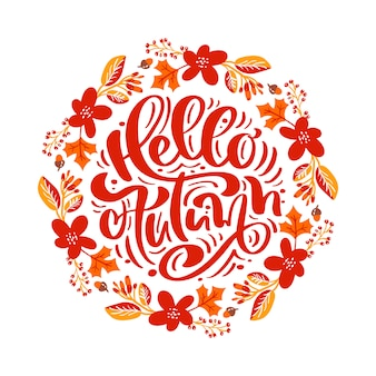 Tekst kaligrafii napis witaj jesień