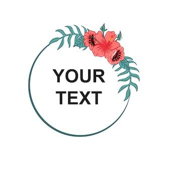 Tekst koło kwiatów