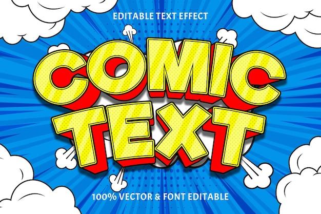 Tekst komiksowy edytowalny efekt tekstowy 3 wymiary wytłoczony styl komiksowy