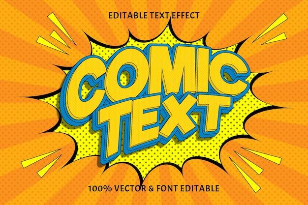 Tekst komiksowy edytowalny efekt tekstowy wytłoczony styl komiksowy