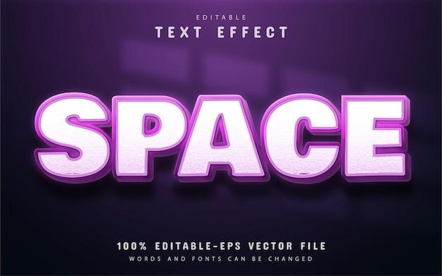 Tekst kosmiczny, edytowalny efekt fioletowego tekstu gradientowego