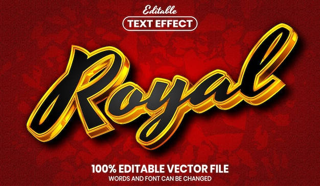 Tekst królewski, edytowalny efekt tekstowy w stylu czcionki