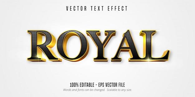 Tekst królewski, efekt edycji tekstu w błyszczącym złotym stylu