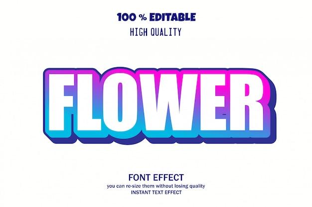 Tekst kwiatów, efekt czcionki edytowalnej