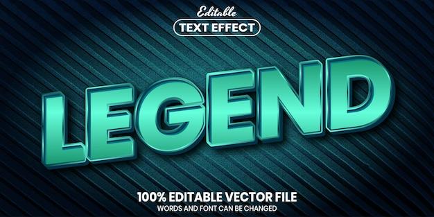 Tekst legendy, edytowalny efekt tekstu w stylu czcionki