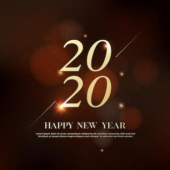 Tekst logo szczęśliwego nowego roku 2020