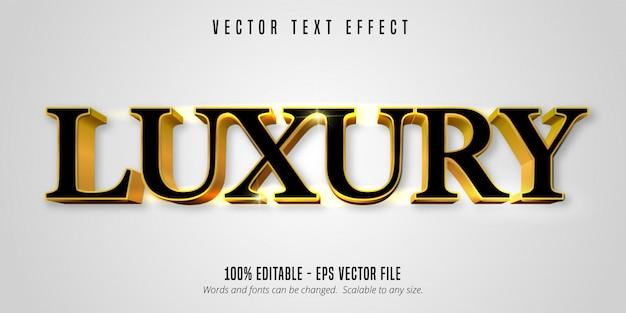 Tekst luksusowy, efekt edytowalnego tekstu w błyszczącym złotym stylu