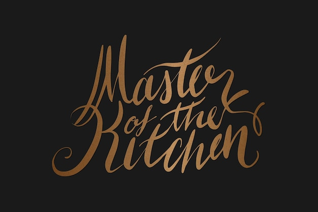 Tekst mistrz kuchni retro typografii