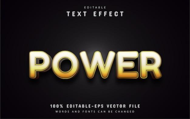 Tekst mocy, żółty efekt tekstowy gradientu