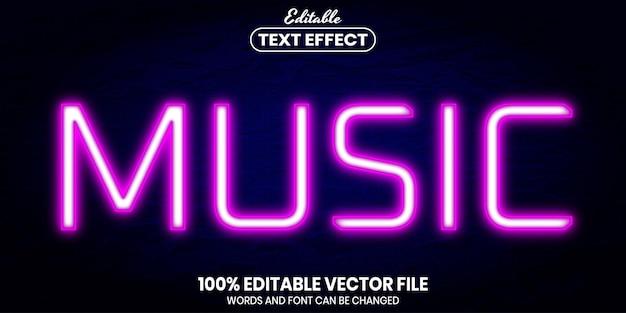 Tekst muzyczny, edytowalny efekt tekstowy w stylu czcionki