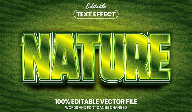 Tekst natury, edytowalny efekt tekstu w stylu czcionki