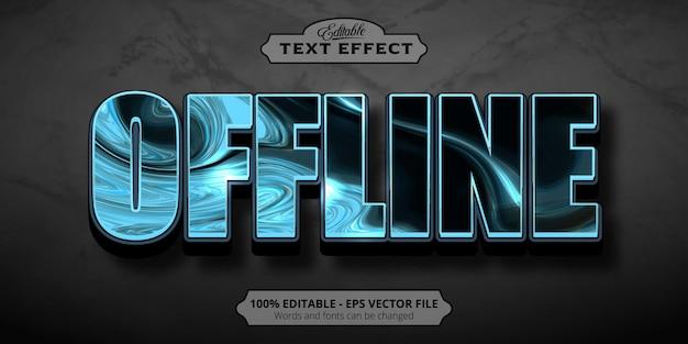 Tekst offline, edytowalny efekt tekstowy