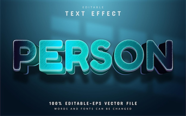Tekst osoby, efekt niebieskiego gradientu tekstu