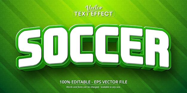 Tekst piłki nożnej, edytowalny efekt tekstowy w stylu kreskówki