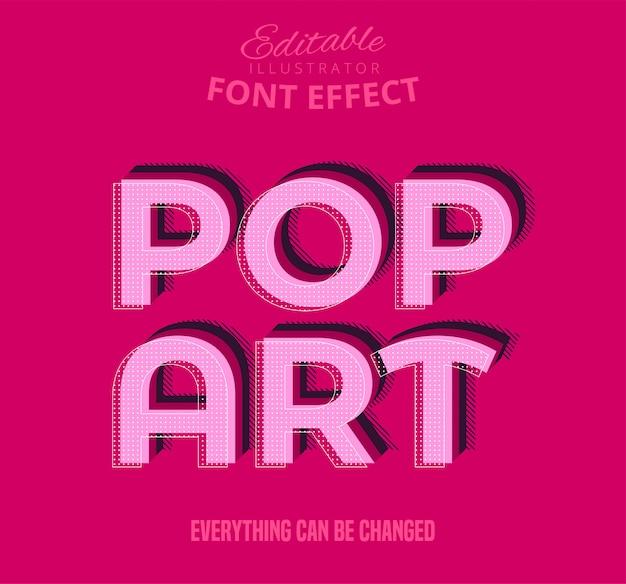 Tekst pop-art, edytowalny efekt czcionki