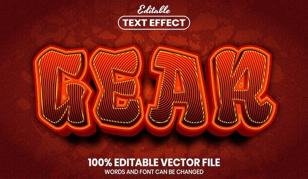 Tekst przekładni, edytowalny efekt tekstowy w stylu czcionki