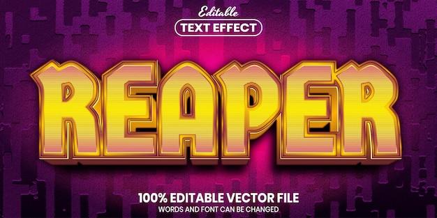 Tekst reaper, edytowalny efekt tekstowy w stylu czcionki