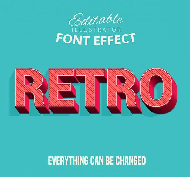 Tekst retro, edytowalny styl tekstu