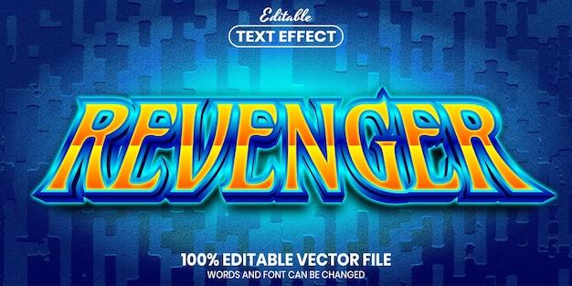 Tekst revenger, edytowalny efekt tekstowy w stylu czcionki