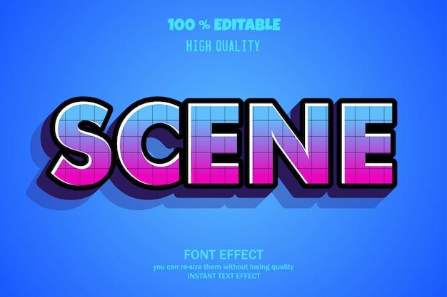 Tekst sceny, edytowalny efekt czcionki