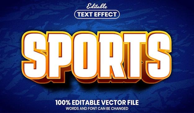 Tekst sportowy, edytowalny efekt tekstowy w stylu czcionki