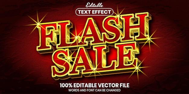 Tekst sprzedaży flash, edytowalny efekt tekstowy w stylu czcionki