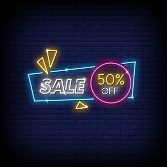 Tekst styl neony sprzedaży