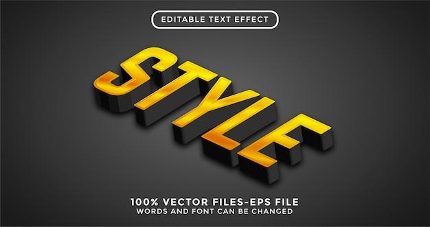 Tekst stylu. edytowalny wektor premium z efektem tekstowym