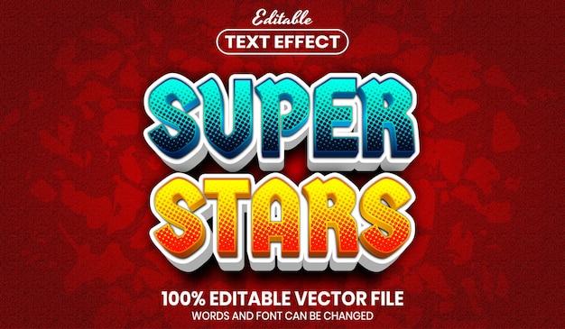 Tekst supergwiazd, edytowalny efekt tekstowy w stylu czcionki