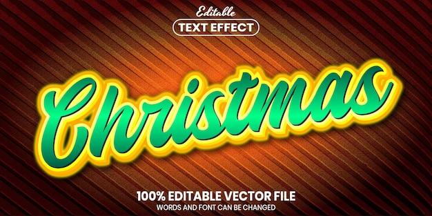 Tekst świąteczny, edytowalny efekt tekstowy w stylu czcionki
