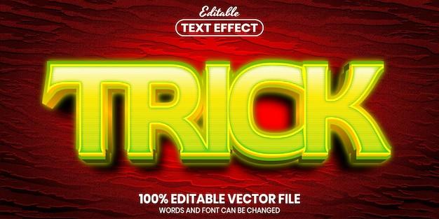 Tekst sztuczki, edytowalny efekt tekstowy w stylu czcionki