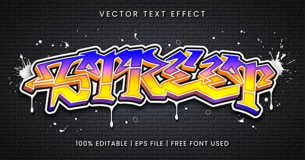 Tekst uliczny, edytowalny styl efektu tekstowego graffiti