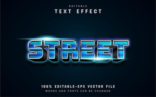 Tekst uliczny, efekt tekstowy w stylu lat 80