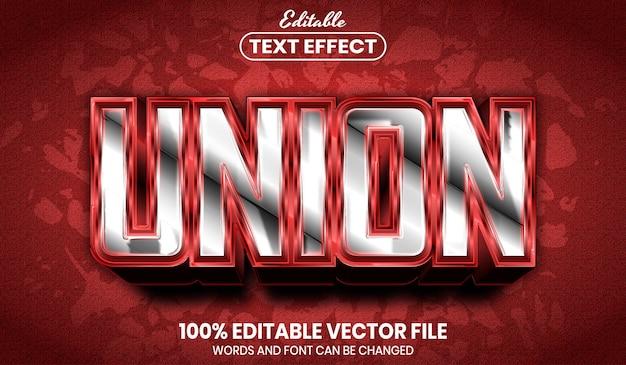 Tekst unii, edytowalny efekt tekstowy