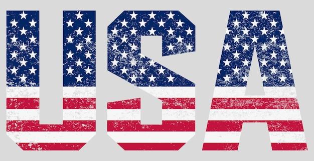 Tekst usa z flagą