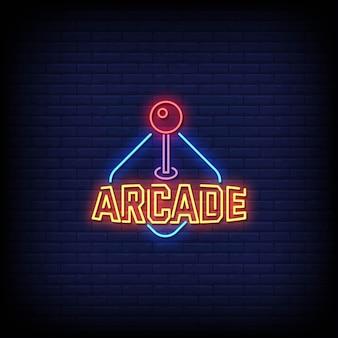 Tekst w stylu arcade neon signs