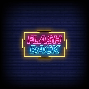 Tekst w stylu flashback neon signs