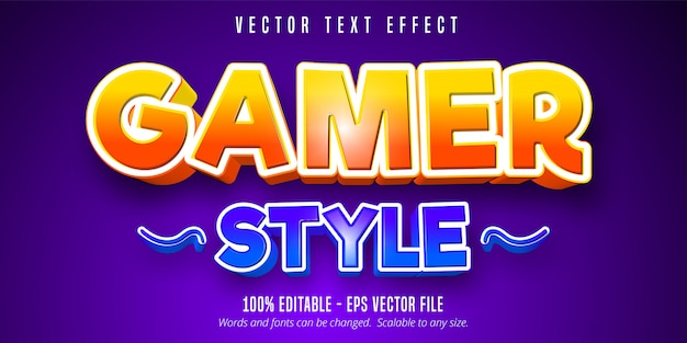 Tekst w stylu gracza, edytowalny efekt tekstowy w stylu gry