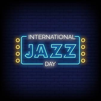 Tekst w stylu international neon day jazz signs