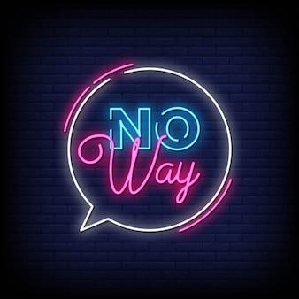 Tekst w stylu neonów w żaden sposób
