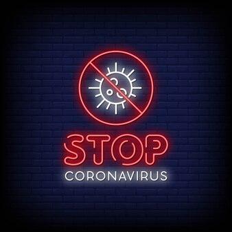 Tekst w stylu neonowych wirusów corona