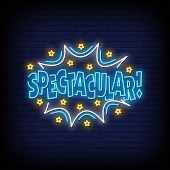 Tekst w stylu spektakularne neony