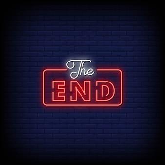 Tekst w stylu znaków końca neonu