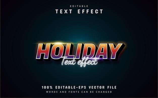 Tekst wakacyjny - edytowalny kolorowy efekt tekstowy w stylu gradientu